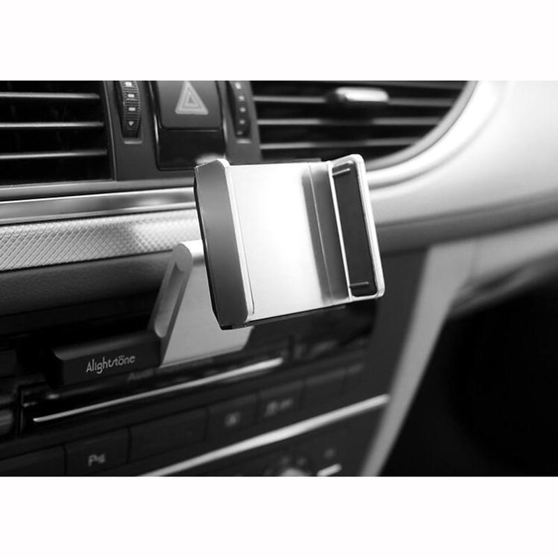 Aluminum Alloy font b Car b font CD Slot Mount Cradle Holder Universal Phone Stand Holder