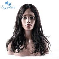 Sapphire Glueless Koronki Przodu Włosów Ludzkich Peruk Dla Czarnych Kobiet 16