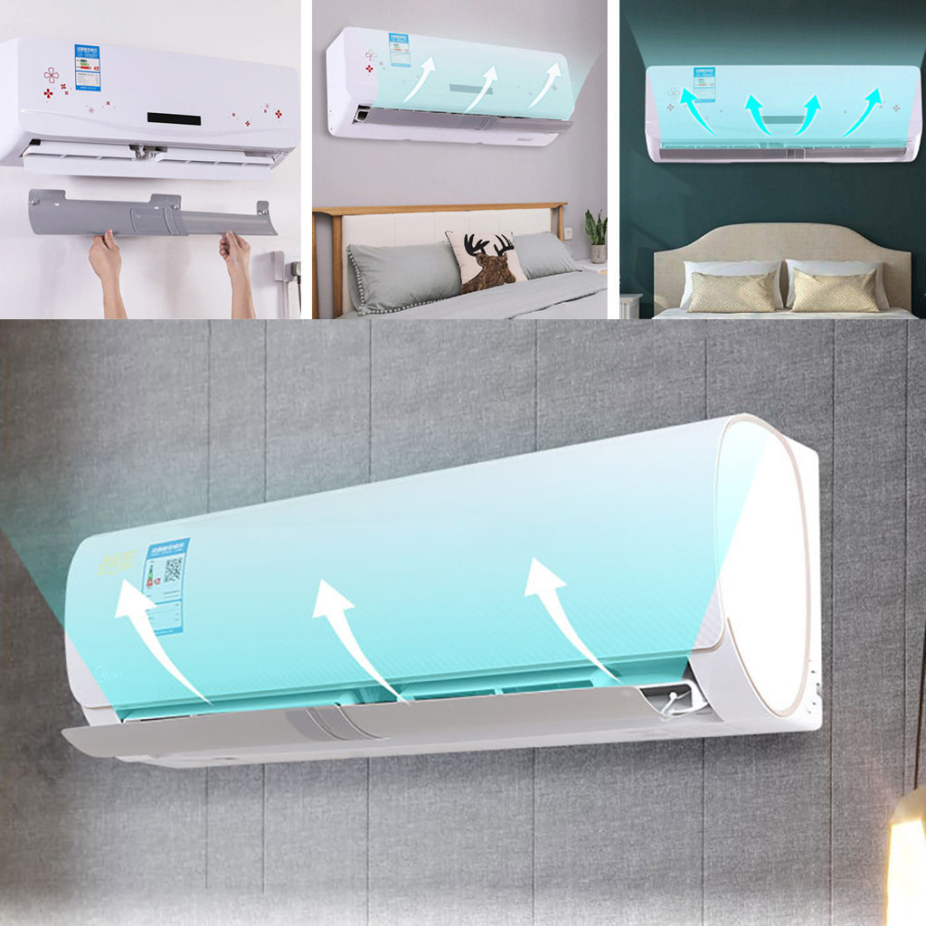 Anti Direct Blowing Retractable Air Conditioner Shield Cold Air Conditioner Wind Deflector Baffle Accessory D1