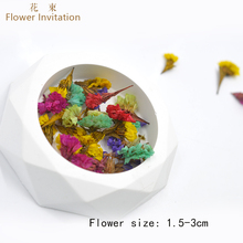 Flower Invitation Wuwangwo diy handmade dried flowers embossed glue natural bouquet branches