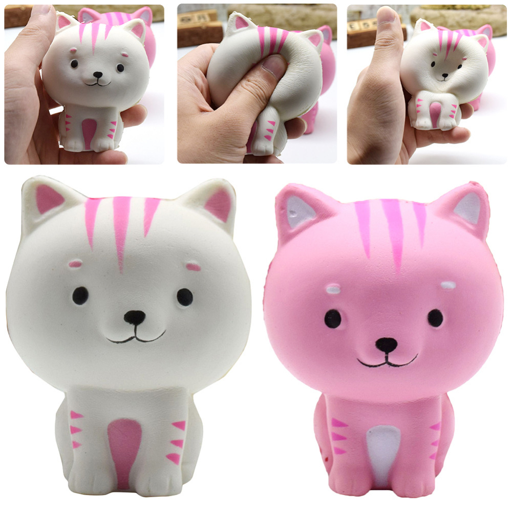 Squishy Squeeze Slow Rising Jumbo Simulation Cartoon Cat Fun Relieve Stress Relief Healing Toy Random color delivery
