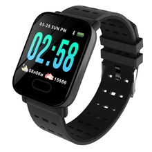 A6 Color Screen Smart Watch Sports Tracking Men Women\s Blood Pressure Sleep Monitoring Bluetooth Bracelet