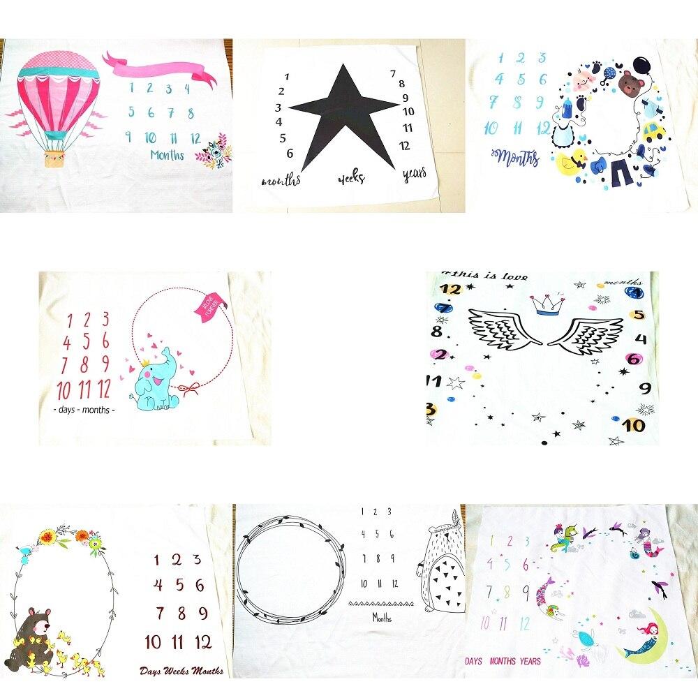 13 patrones de dibujos animados Cute multifunción Baby Play Mats infantil manta de baño Toalla de baño Estilo nórdico cama habitación decoración foto utilería