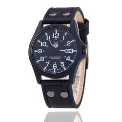MEIBO Mens Watches Luxury Leather Alloy Quartz Business Watch Outdoor Sport Watch reloj hombre