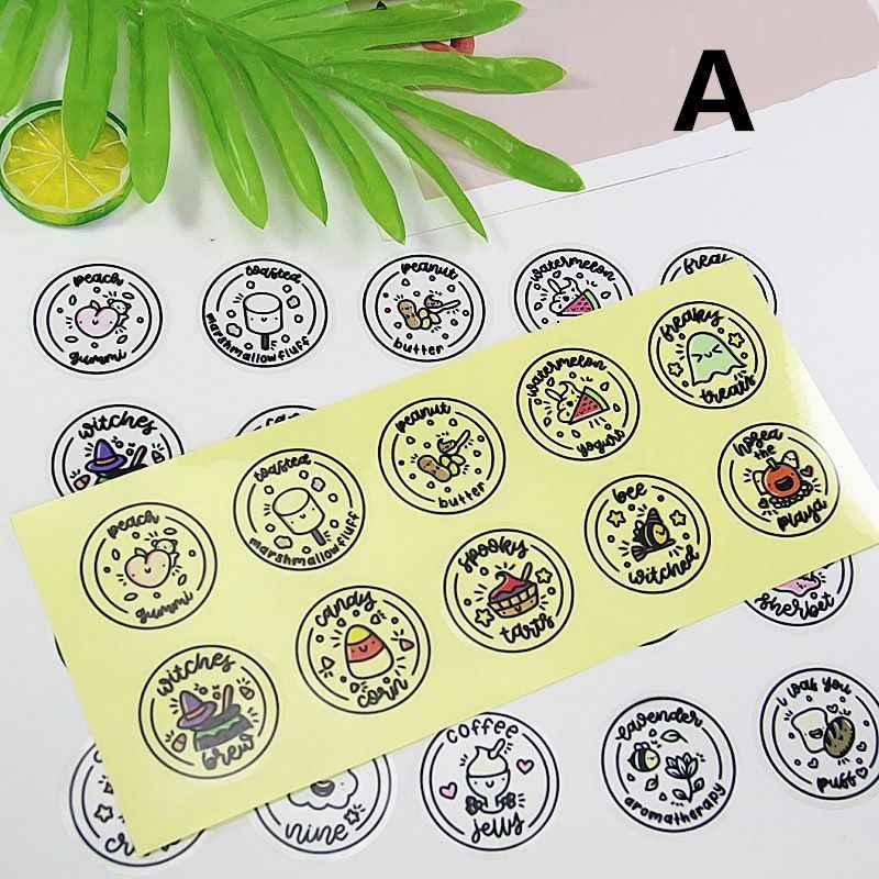 OOTDTY Waterproof Round Slime Sticker Containers Sticker Storage Box Sticker Slime Supplies DIY Accessories Bottle Decoration
