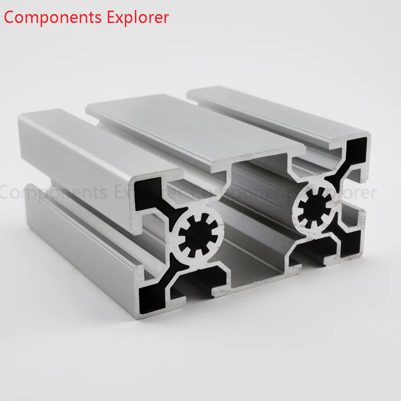 Arbitrary Cutting 1000mm 50100 Aluminum Extrusion Profile,Silvery Color.
