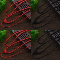 50Strands Bag Necklace Nylon Cord Chain Choker For Tibetan Agate Dzi Beads 3 5mm Red Black