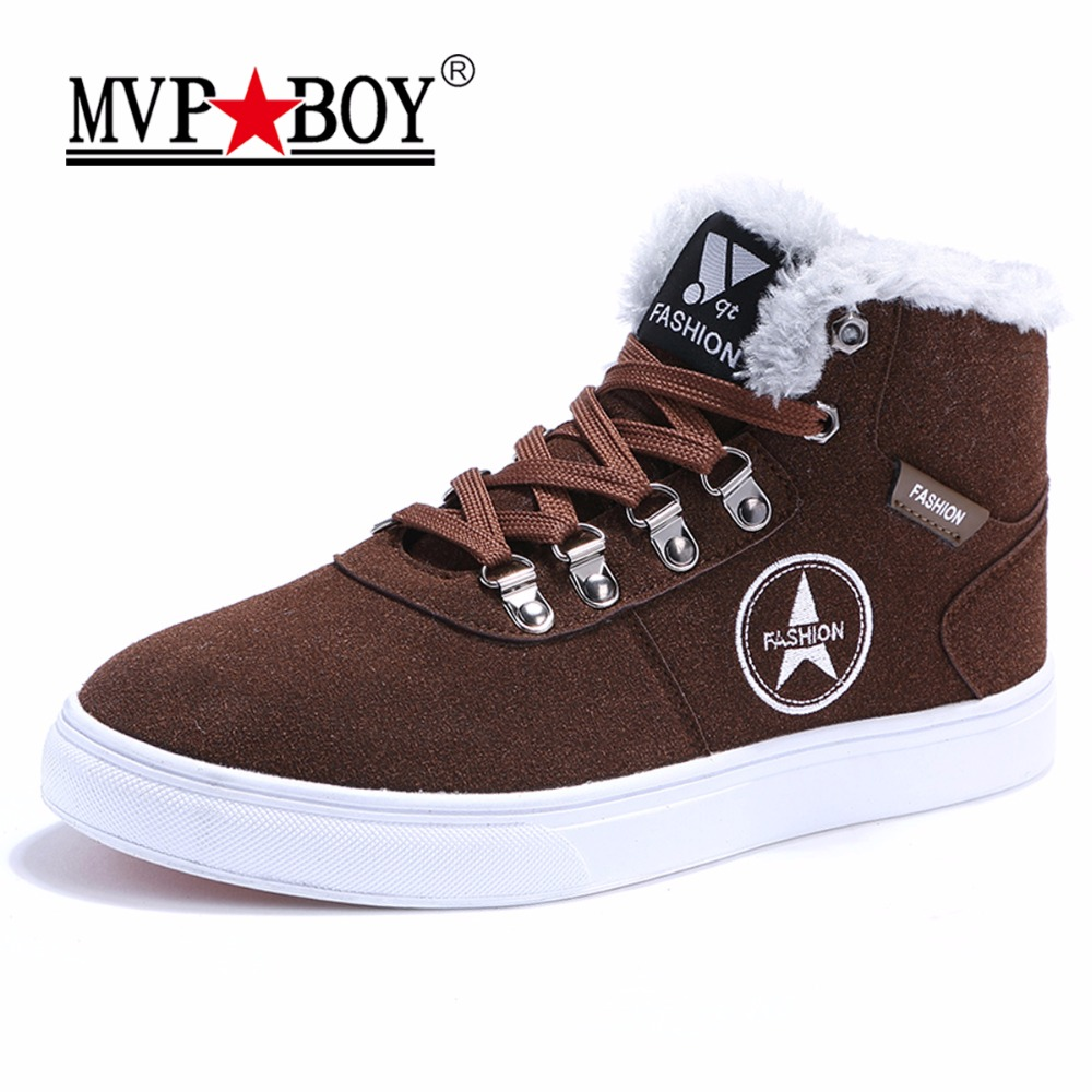 MVP BOY High Quality Brand Flat Heel Men's Shoes Autumn Ankle Men Casual Shoes Winter High top Lace-Up Fashion Warm Shoes Mens hot sale 2016 top quality brand shoes for men fashion casual shoes teenagers flat walking shoes high top canvas shoes zatapos