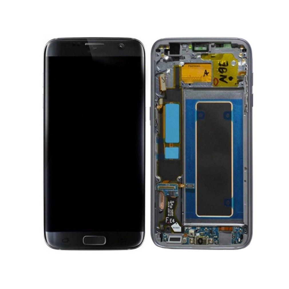 LCD Affichage à L'écran Tactile Digitizer Assemblée avec Cadre Mobile Téléphone Pièces De Rechange Pour Samsung Galaxy S7 Bord G935F