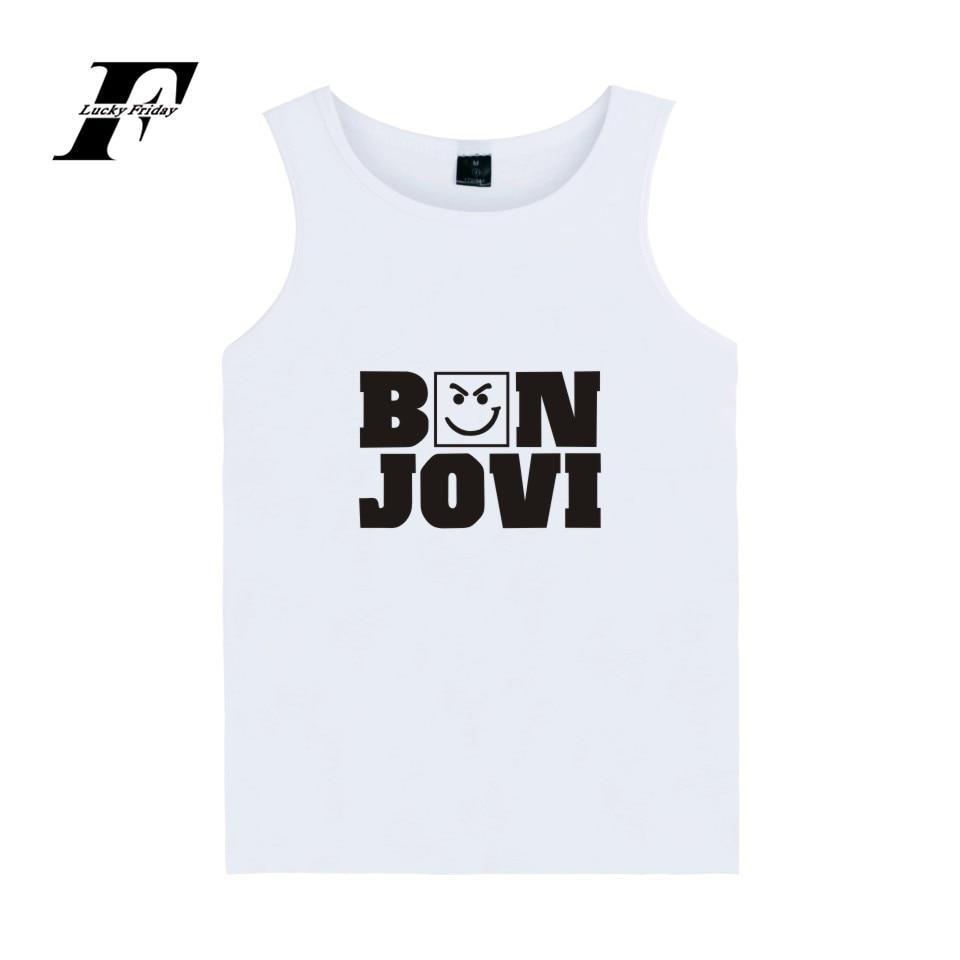Bon Jovi Tank Top Hot Rock Music Band Casual Vest XXS-4XL Cool Cotton Vest Fashion For Girls Tank Tops Women Summer