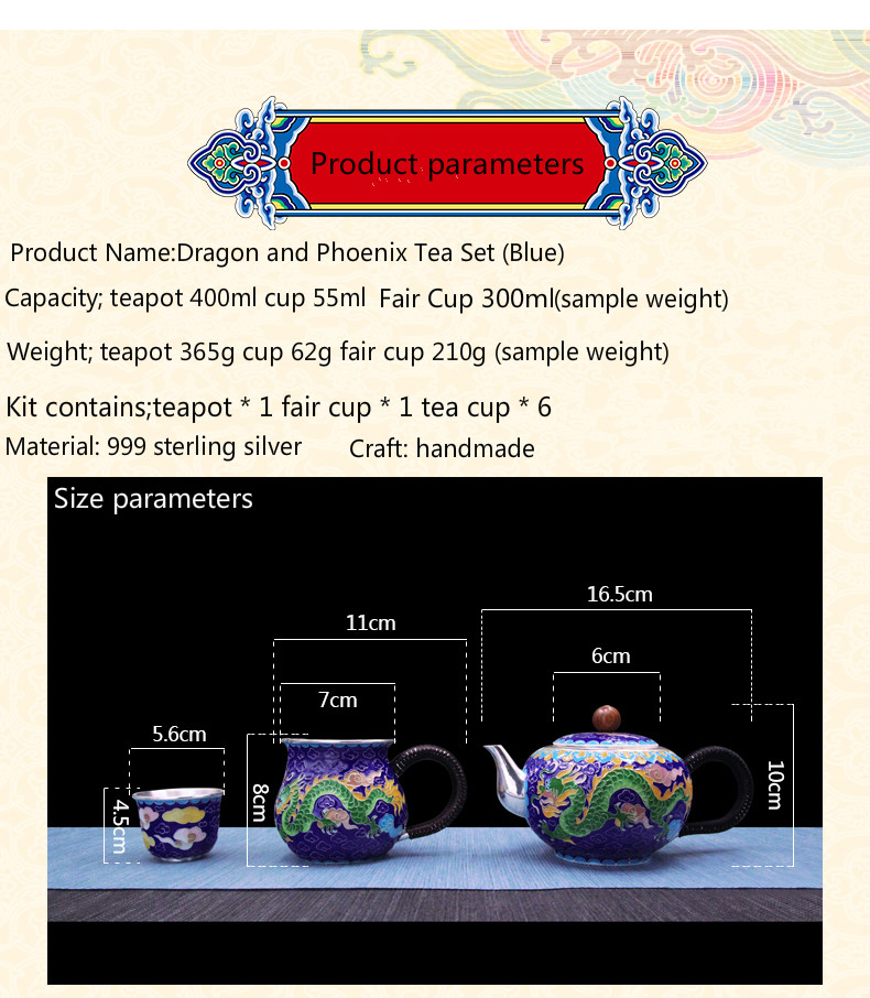 Pure silver exquisi teteapot kettles tea cup  chinese kung fu tea set drinkware 1