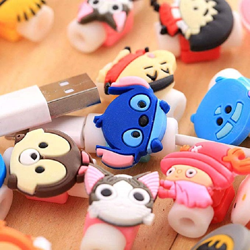 Cartoon Data Line Cord Protector Cable Protector Case Cable Winder Cover in Cable Winder from Consumer Electronics