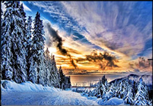 Winter scenery diamond painting landscape embroidery full round Natural