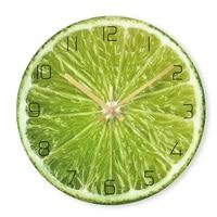 Lemon Decorative Wall Clocks Fruits Digital Clock for Kitchen Silent Quartz Glass Hanging Watch Modern Design Home Decor Gift