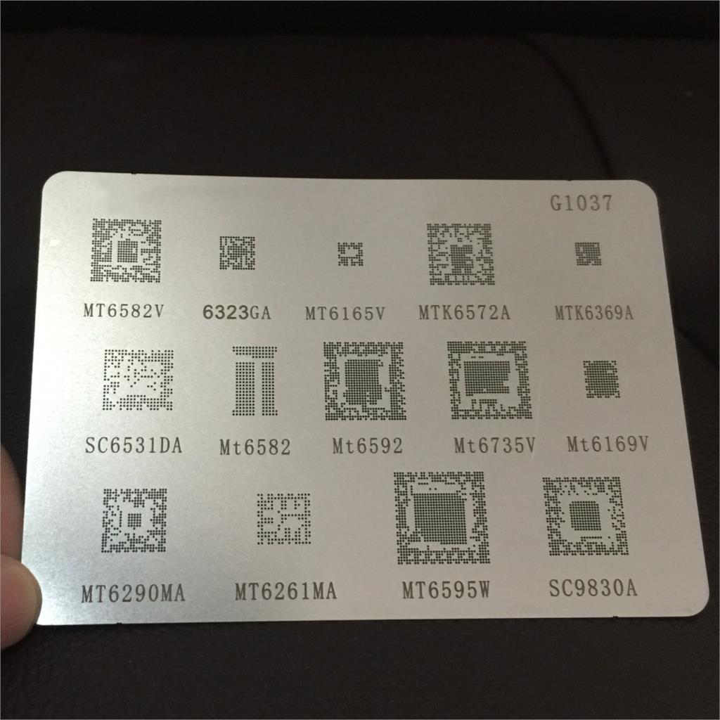 1pcs/lot BGA Reballing Reball Stencil For MTK Xiaomi Series MTK6369 MT6582 MT6572A MT6592V MT6323GA MT6169V MT6735V MT6339A