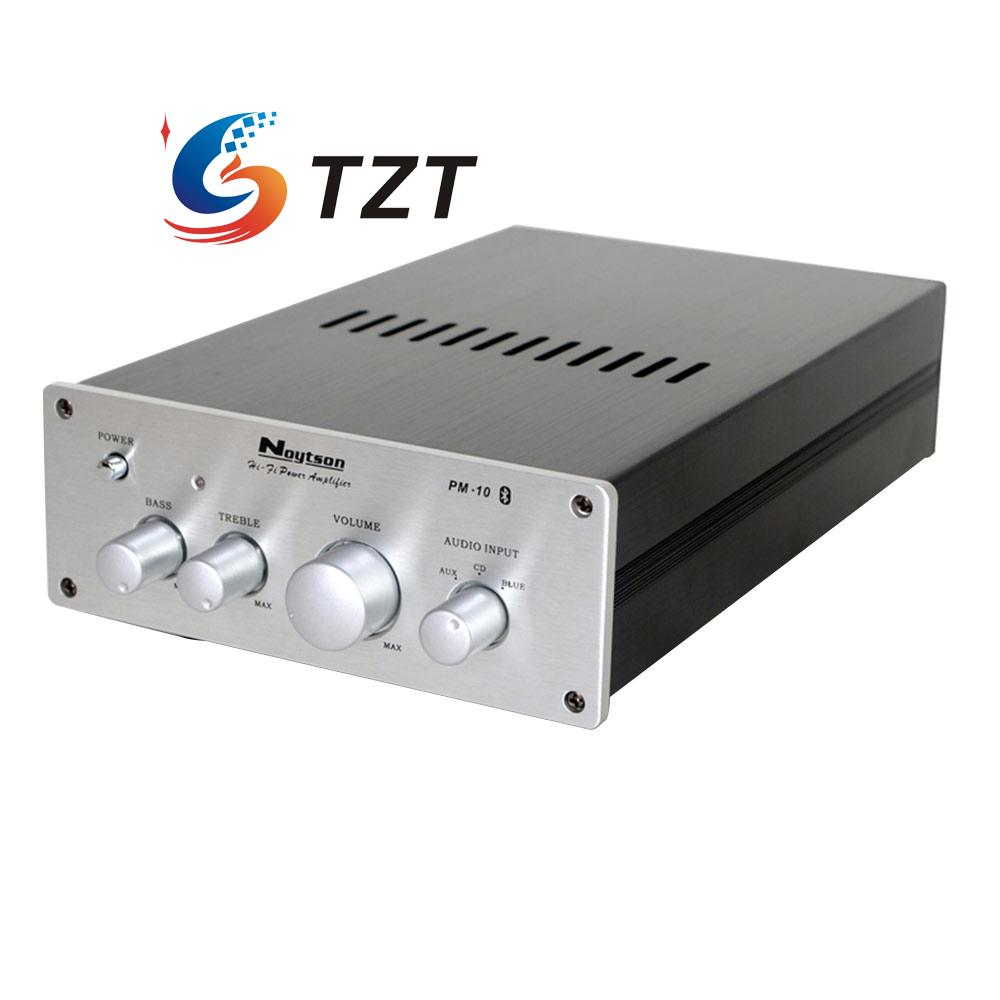 HIFI Bluetooth Power Amplifier 2 1 Dual Channel Audio AMP Noytson PM10 Silver