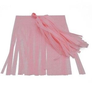 Image 5 - Papel de tecido colorido borlas pendurado guirlanda banners chuveiro do bebê diy artesanato decoração casamento aniversário