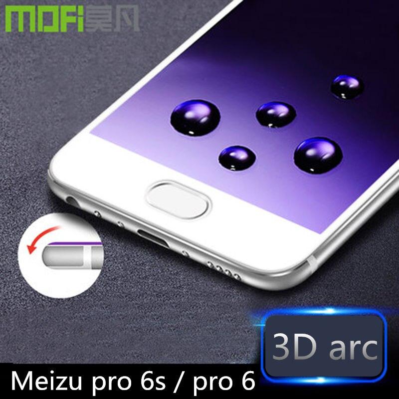 imágenes para Meizu pro 6 s pro6 3d curvada de vidrio templado de pantalla meizu pro 6 protector 9 h película antideslumbrante meizu pro 6 s suave borde de vidrio 32 gb