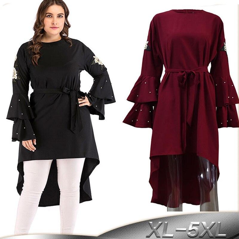 2019 Abaya Dubai Kaftan Turkey Women Long Beading Embroidery Hijab Muslim Dress Elbise Caftan Robe Turkish Islamic Clothing