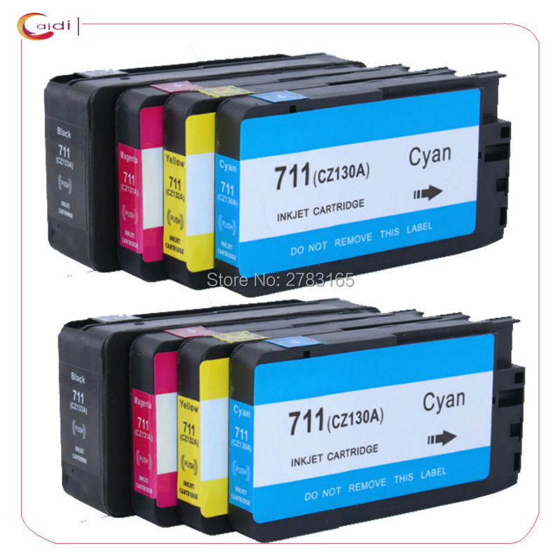 8 Pack Compatible for HP 711 Ink Cartridges HP711 DesignJet T520 T120 For HP T120 T520 Printer ink cartridge tommy hilfiger denim tommy hilfiger denim to013ewgxq69