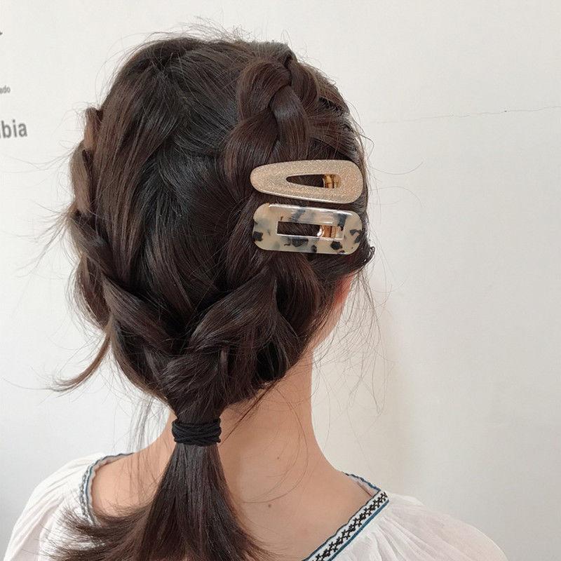 Women Vintage Leopard Resin Hair Pin Hairband Girl Snap Barrette Bobby Hair Clip