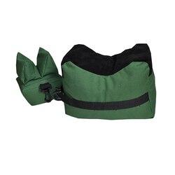 야외 자전거 전면 후면 가방 지원 소총 sandbag 세트 휴대용 스나이퍼 사냥 전술 총 나머지 대상 스탠드 슈팅 가방