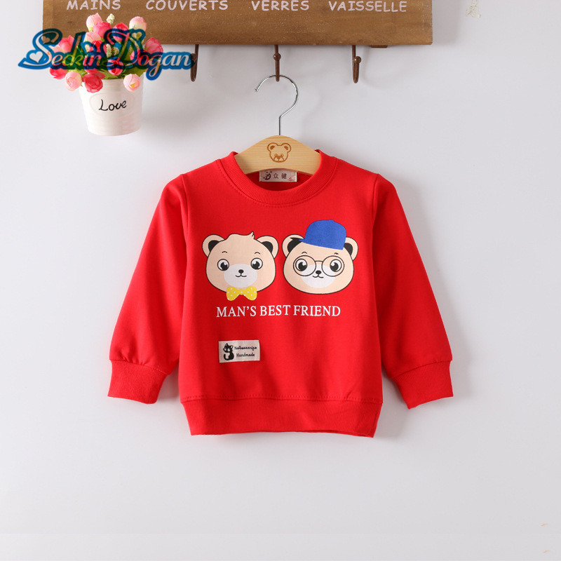 SeckinDogan Baby Sweatshirt Cute Cartoon Rabbit Pattern Baby Clothes O-Neck Cotton Baby Hoodie Girl Long Sleeve Infant Clothing цена 2017