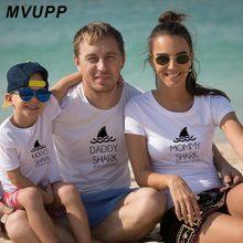 Одинаковая одежда для семьи футболка с буквенным принтом «папа мама и дети» хлопковая одежда летние выходные пляж для маленьких мальчиков и девочек