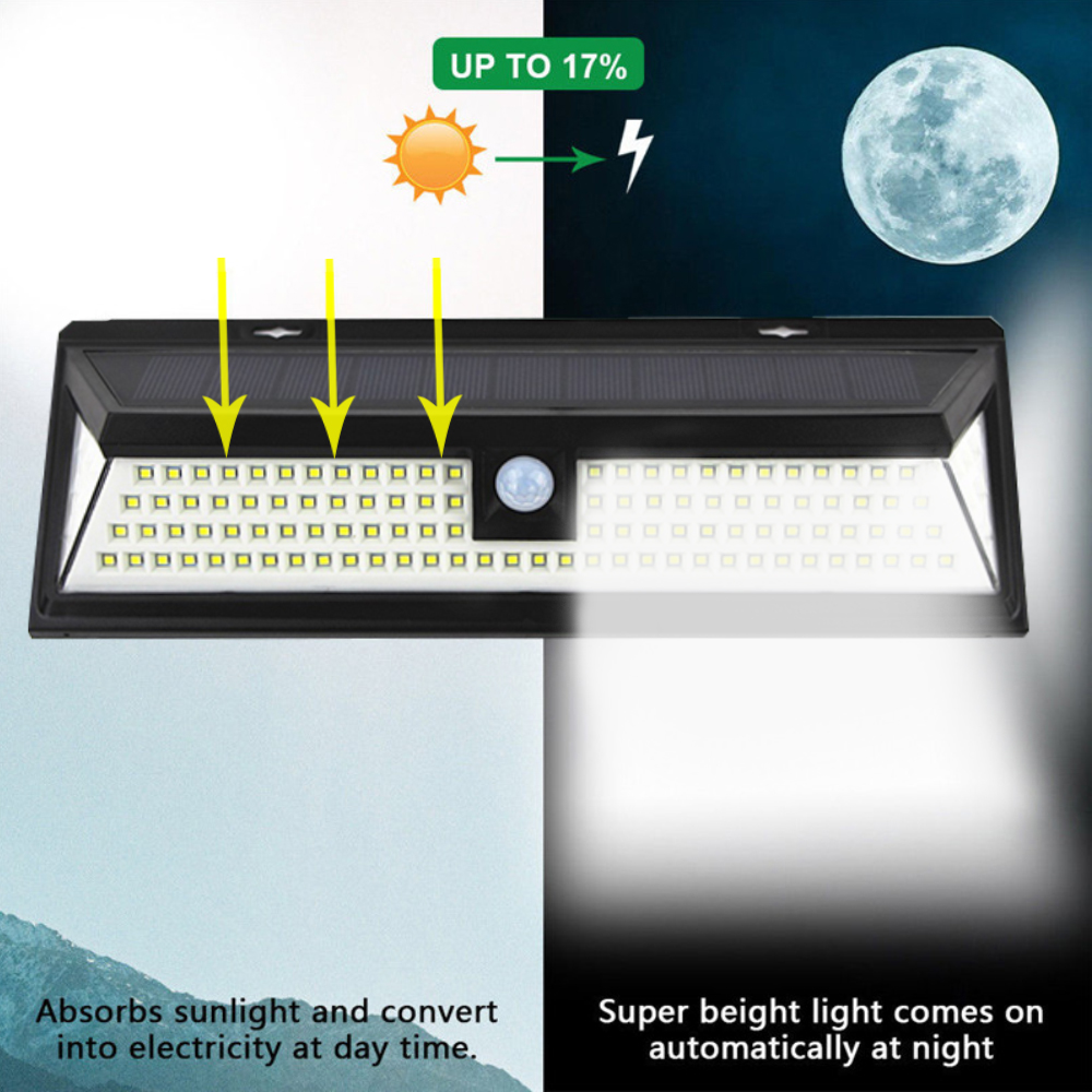 90/118 Led Solar Light Outdoor Waterproof Motion Sensor    SMD 2835 IP65 Lighting Decor Garden Light Solar Powered Security Lamp
