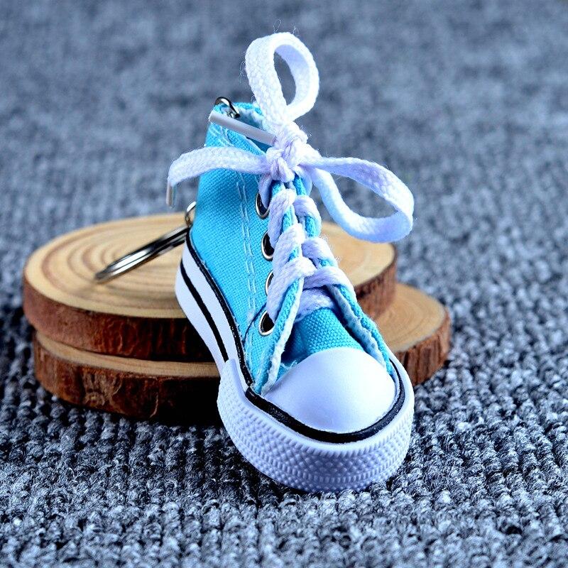 Холст обуви ключ пряжки Повседневный брелок на ключи в виде обуви цвет обуви брелоки металл аксессуары для сумки - 3