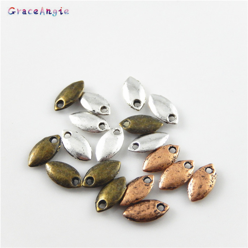 200pcs Silver Tone Alloy Round Beads Charm Jewelry Finding Hot Sale 32137