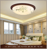 Chinese ceiling lamp master bedroom secondary study China style retro solid wood round lamps
