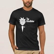 цена Print Classical Ricky And Morty T-Shirt For Men The Grandfather Rick Morty T Shirt Men Graphic Cool Tshirt Original Cute онлайн в 2017 году