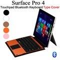 Новое поступление Microsoft Surface Pro 4 типа крышка сельма беспроводная связь Bluetooth 3.0 сенсорная панель ABS клавиатура чехол + протектор