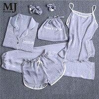 MaiJee 7 Pic Pijama Set Pijama Feminino Pyjama Femme Pigiama Donna Pyjamas Women Pijamas Mujer Pajamas Night Suit Sleepwear