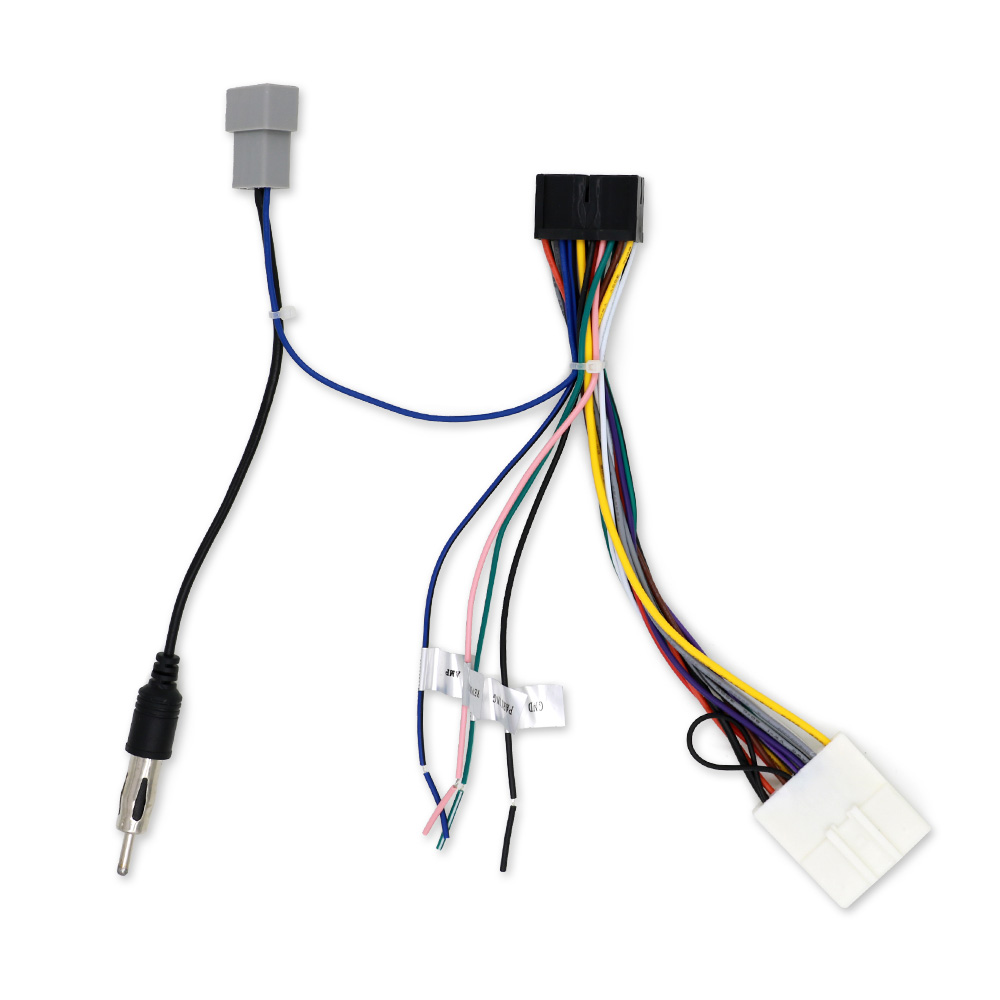 hot car stereo audio harness with iso adapter automobile. Black Bedroom Furniture Sets. Home Design Ideas