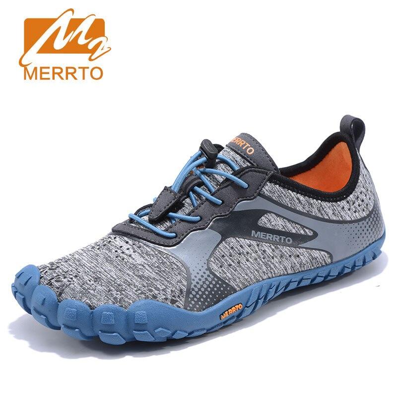 Merrto Для мужчин с противоскользящей подошвой пять пальцев ног быстросохнущие открытый waking обуви водонепроницаемый дышащий легкий 5 носком О...