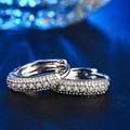 Очаровательная горячая Хооп серьги для женщин белый позолоченный CZ ювелирные изделия с бриллиантами свадьба обручальное Винтаж букле d'oreille DDe018
