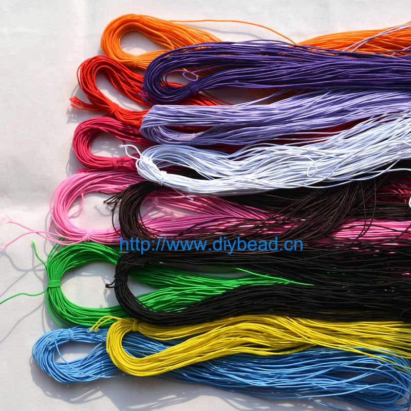 DIY 12 Colors 25meter 1MM Beading elastic Stretch Cord Beads Cord String Strap Rope For Bracelet Making