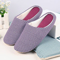 Japanese silent household cotton slippers indoor winter indoor wood floor slippers couple home slippers men