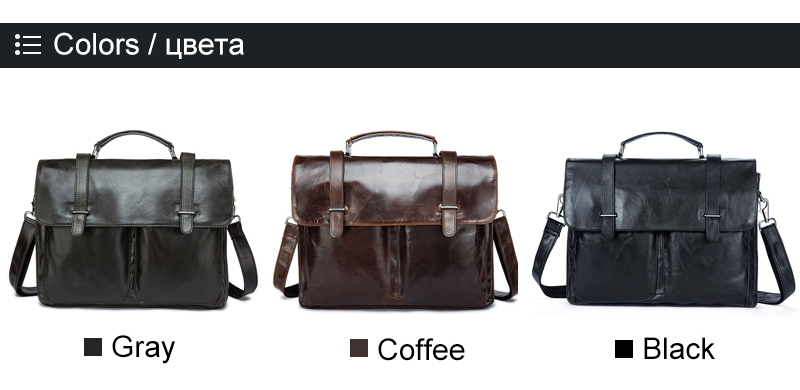 56b4a96b968 FLASH SALE] WESTAL Messenger Bag Men's Briefcases Document male bags ...