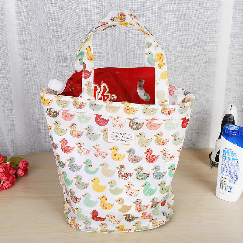 12c330f81763 ... 2019 сумка для покупок Женская утка дизайн товар Органайзер Мода Эко  сумка для девочек Леди Топ