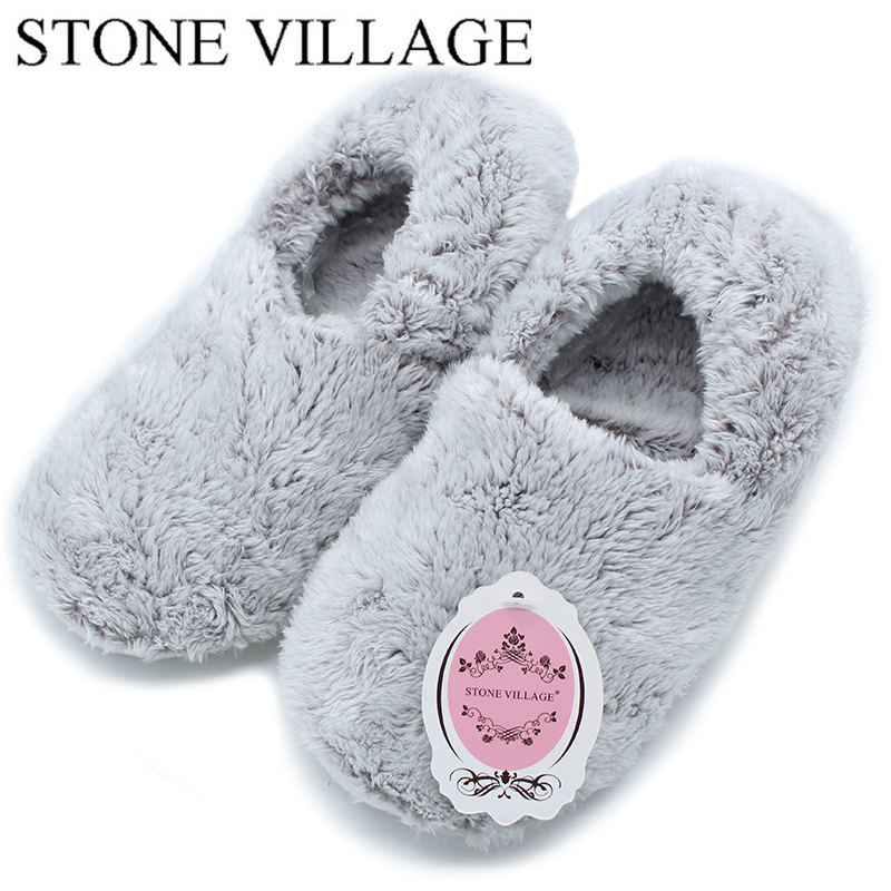 STONE VILLAGE New Arrival 2018 Spring Shoes Autumn Slippers Women Home Shoes Comfortable Indoor House Women Slippers Flats T87-A the stone house