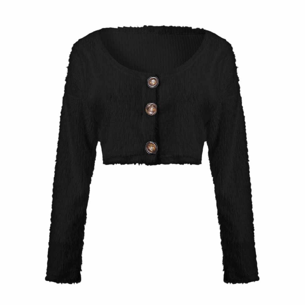 Kleidung frauen Mode Lange Hülse Taste Tiefem V-ausschnitt Sexy frauen Pullover Jacke Party Ball Pullover Große Größe