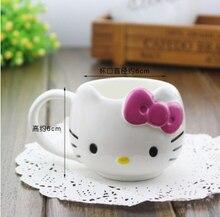 MINI 50 ml Cartoon keramik-tasse hallo kitty Individualität Becher tasse für kaffee milch und tee wasser 6*6 cm schöne mini tassen für kinder