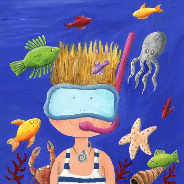 Αποτέλεσμα εικόνας για painting with child and sea