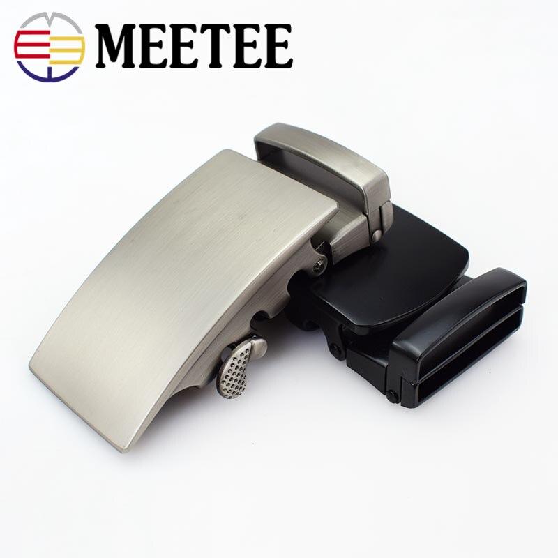 Meetee 3.5CM Width Men Belt Buckle Automatic Metal Buckle Head Men's Business Leisure for 3.4-3.6cm Width Belt Jeans Accessories