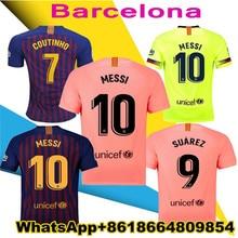 c5c8cb90e16 2018 2019 Barcelona MESSI SUAREZ Jersey soccer 18 19 Camisas pink Dembele  Messi COUTINHO home blue