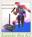 Misturador de Karaoke Karaoke Eco Misturador k2 máquinas de Karaokê sistema... Cantar uma música do seu android tv pc, computador e mesa