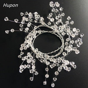 120cm Acrylic Crystal Beads Curtain Garland Wedding Decorations Branch String Crystal Bead Party Decor Wedding Party Supplies